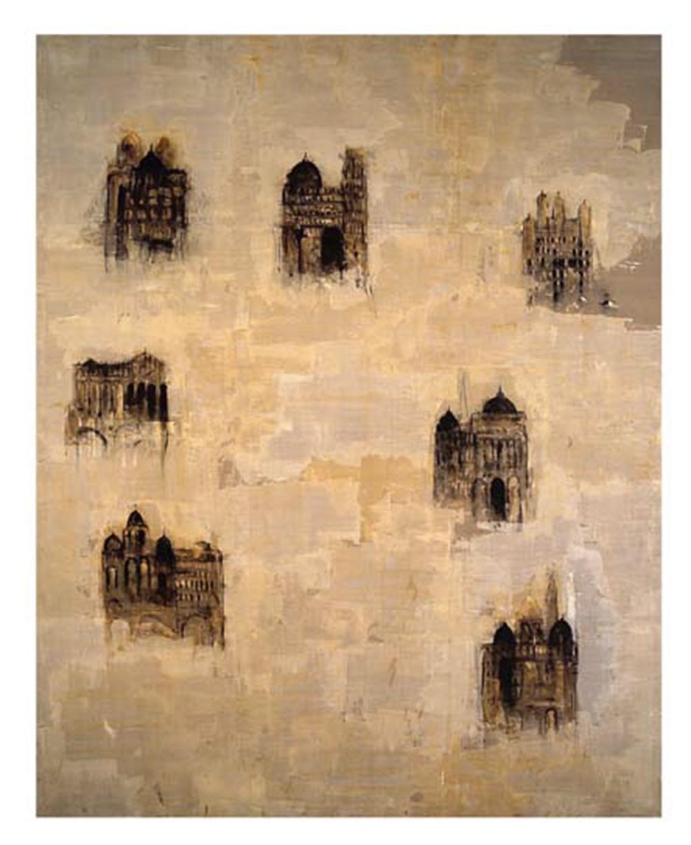 Cattedrale, 2004, olio su tela, cm 400x320 - Collez. Carisbo S. Giorgio in Poggiale, Bologna