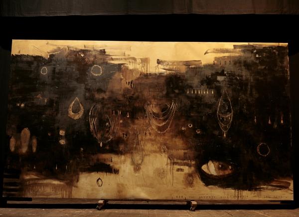 Oro fine Seicento, 2006-2007, olio su tela, cm 261x468