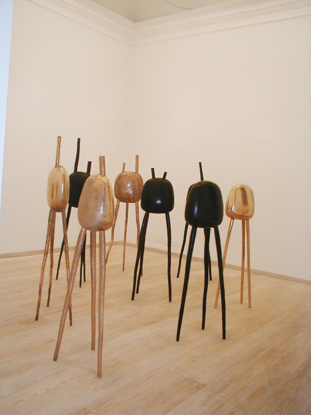Polpi, 1992, bronzo, cm 180x40x40 ciasc., installazione ambientale