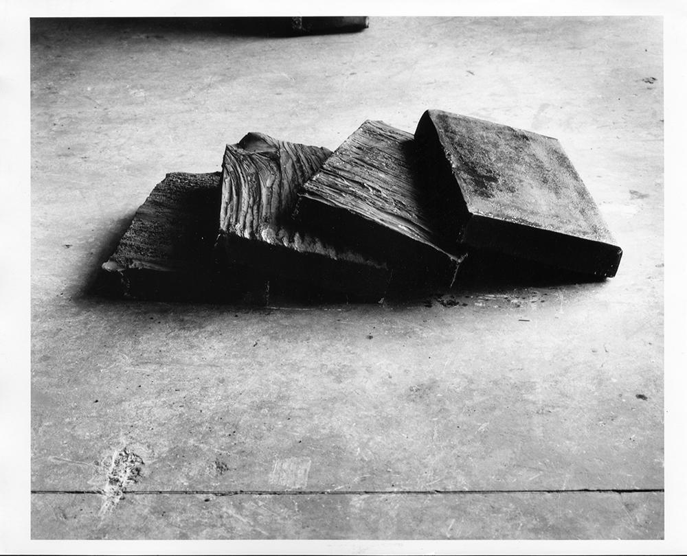 Giuseppe Spagnulo, Progetto per le porte di Bagdad, 2002, acciaio, cm 22x100x60 (circa)