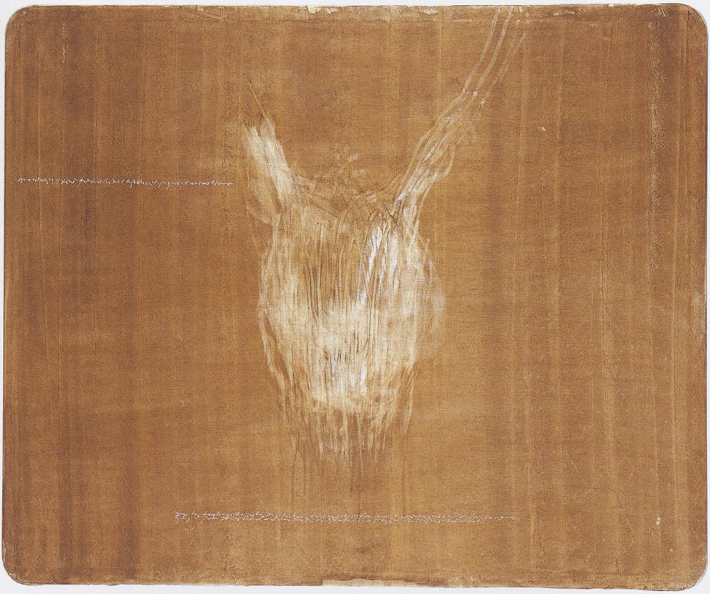 Quello che sembra, Rosemarie, 2001, abrasione con le dita su dispersione su pvc, cm 141x170