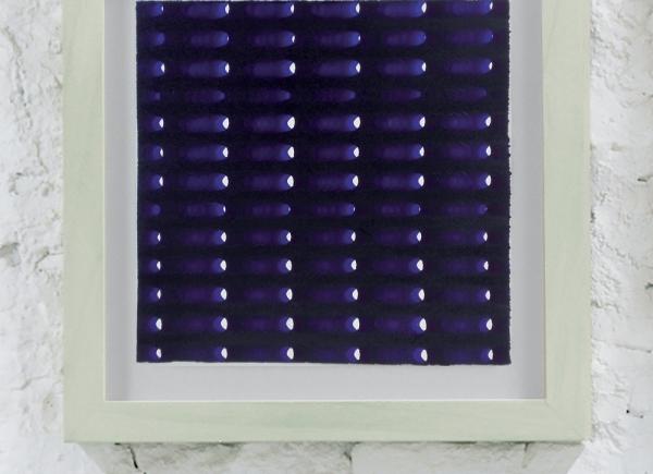 Rete, 2013, carta e inchiostro blu, cm 40x40