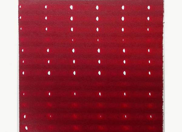 Rete, 2013, carta e inchiostro magenta, cm 40x40