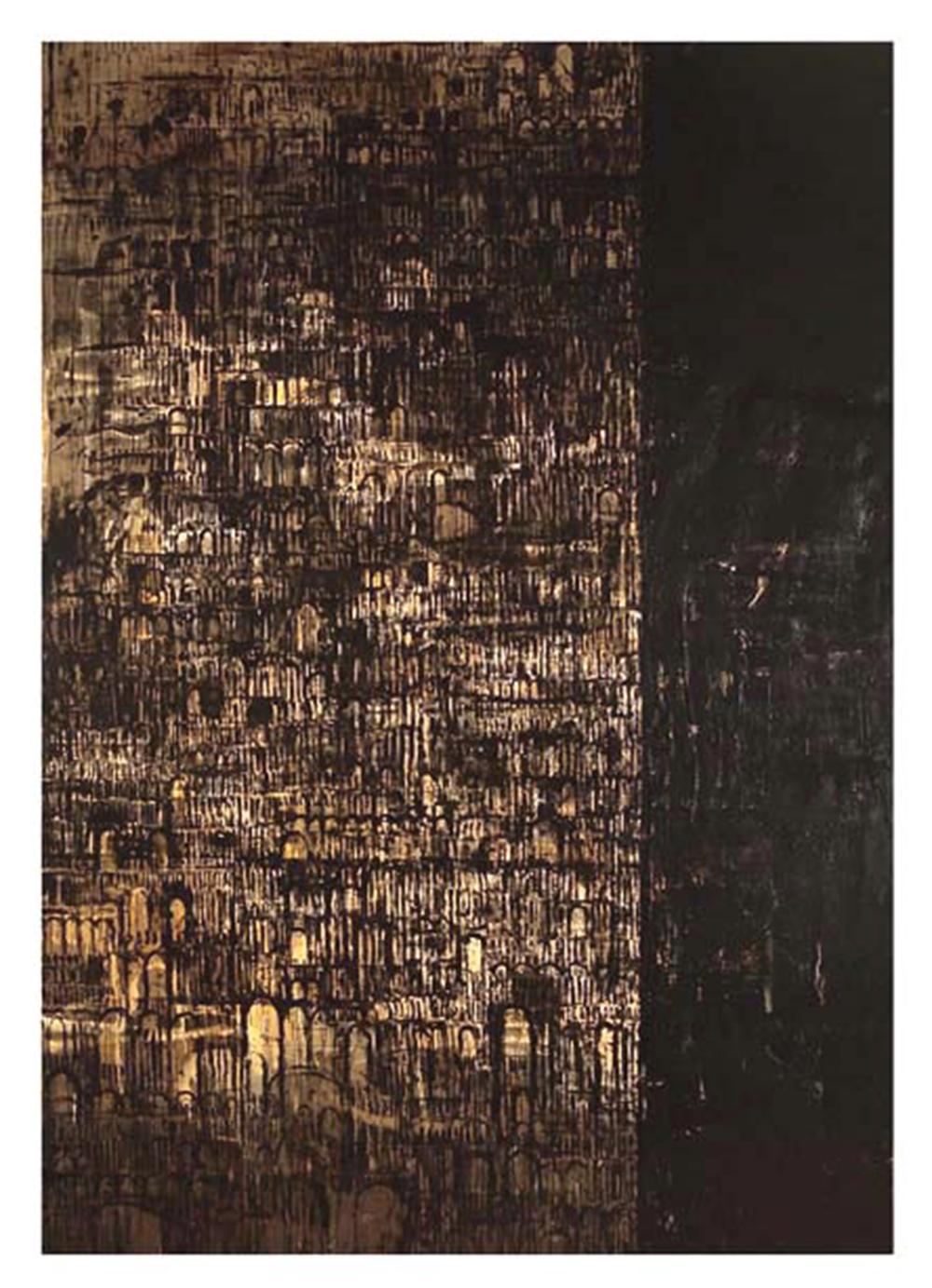 Cattedrale, 2004, olio su tela, cm 400x280 - Collez. Carisbo S. Giorgio in Poggiale, Bologna