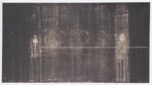 Tavola detta, 2001, abrasione con le dita su dispersione su pvc, cm 90x165