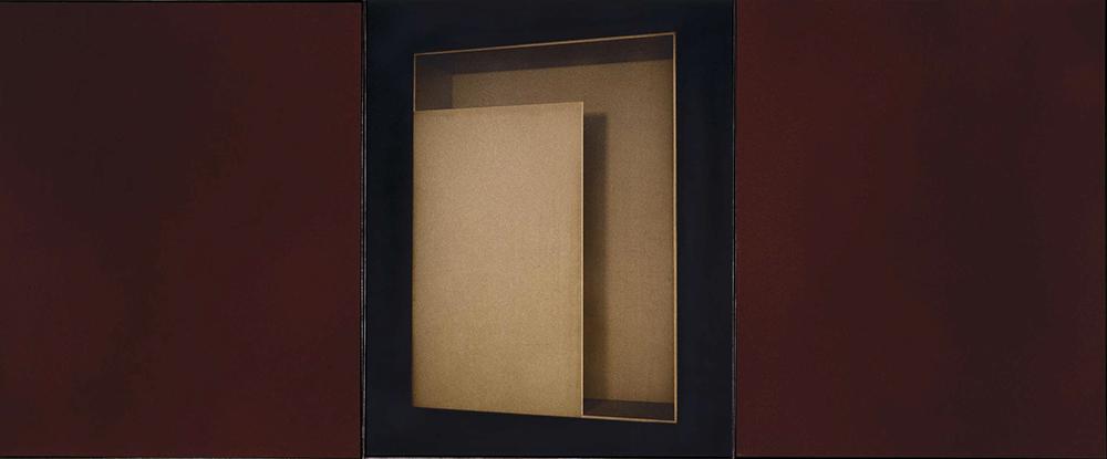 Senza titolo, 2004, tecnica mista su tavola, trittico cm 100x243