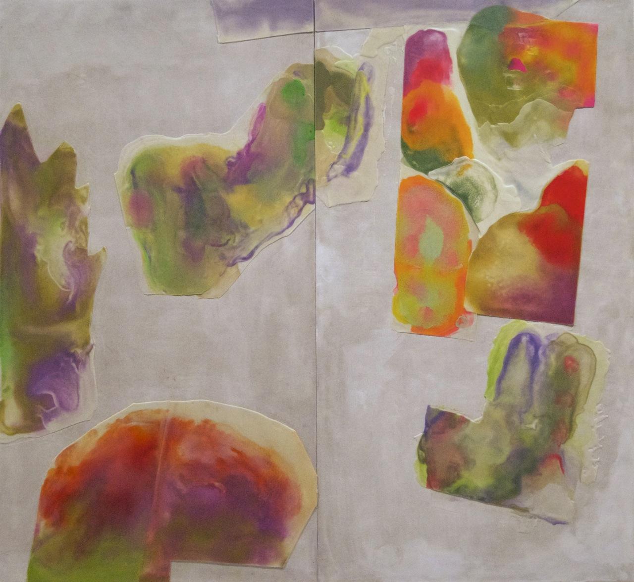 Peter Flaccus, The Islands, 2013, encausto su tavola, cm 183x200