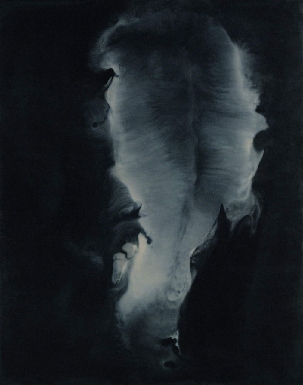 Peter Flaccus, Opening, 2009, encausto su tavola, cm 43x34