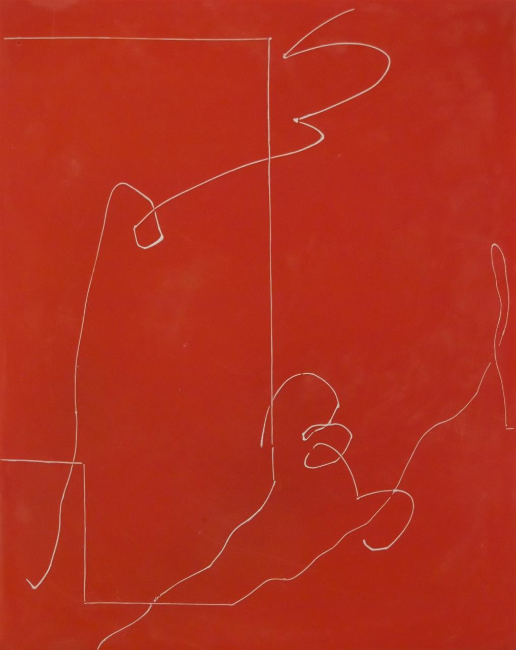 Peter Flaccus, Pompeii Scribble, 2011, encausto su tavola, cm 43x34
