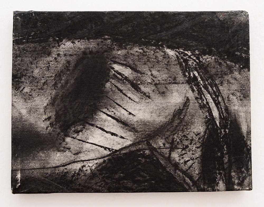Aspettando il giorno, 1983, tecnica mista su carta intelata, cm 18x24