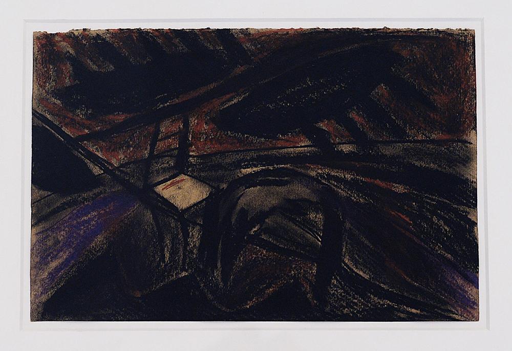 Di notte, 1984, tecnica mista su carta pesce, cm 28x42