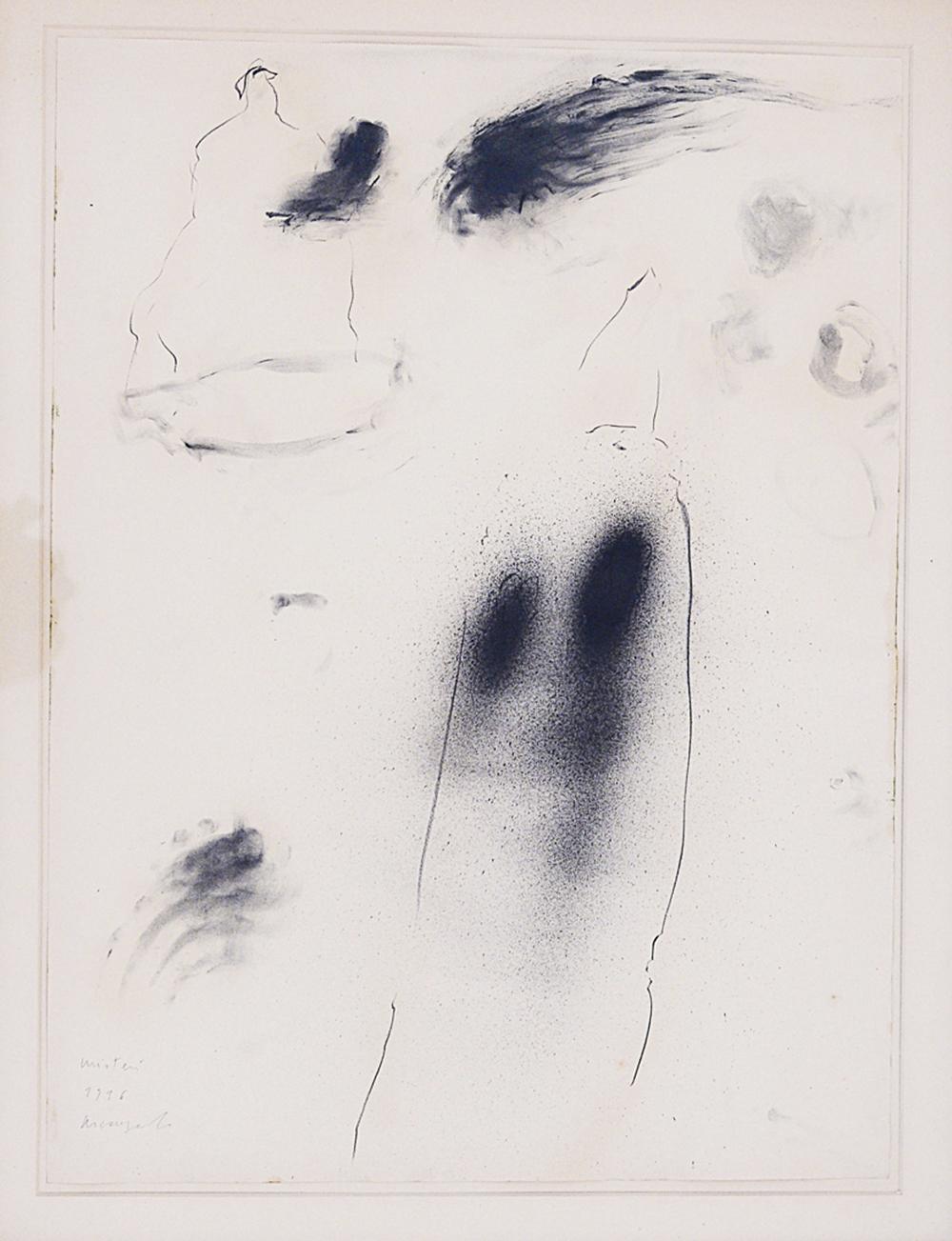 Misteri, 1996, tecnica mista su carta, cm 78x58