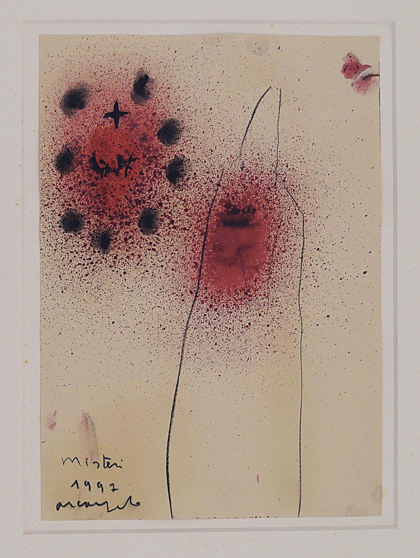 Misteri, 1997, tecnica mista su carta, cm 33x23,5