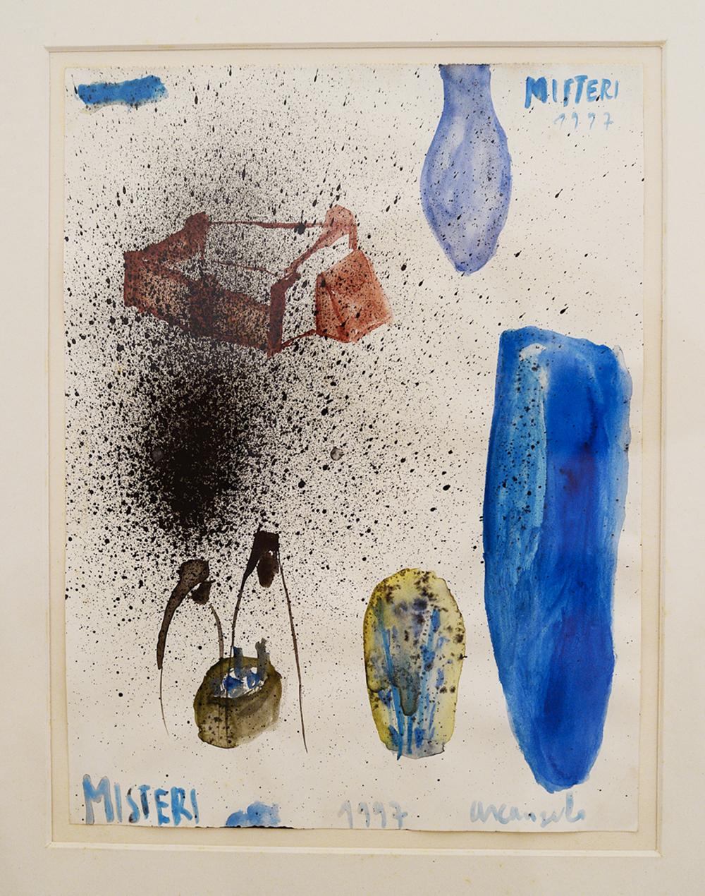 Misteri, 1997, tecnica mista su carta, cm 31x23