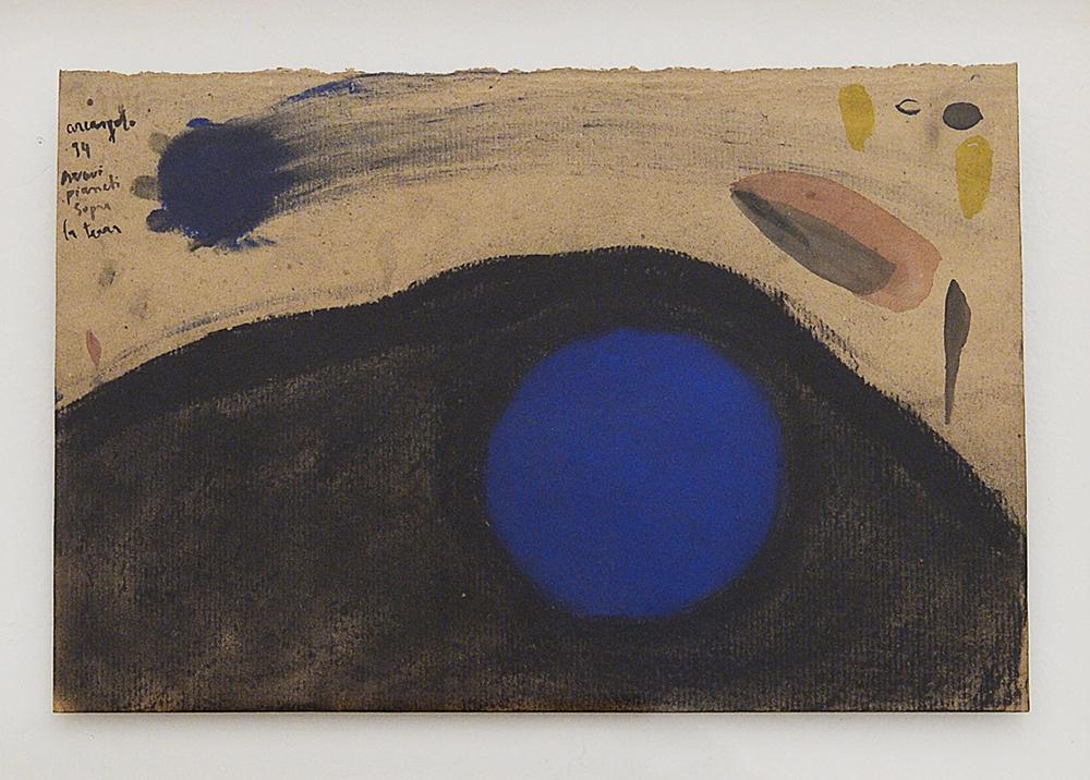 Pianeti, 1994, tecnica mista su carta pesce, cm 28x41