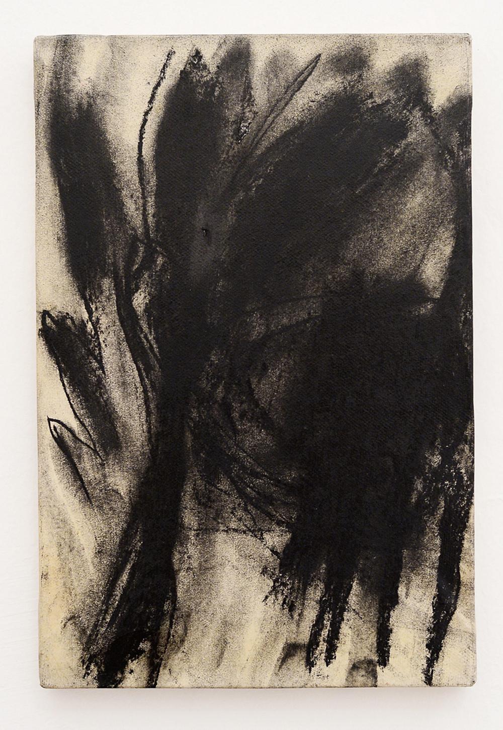 Ritratto amico, 1984, tecnica mista su carta intelata, cm 30x20