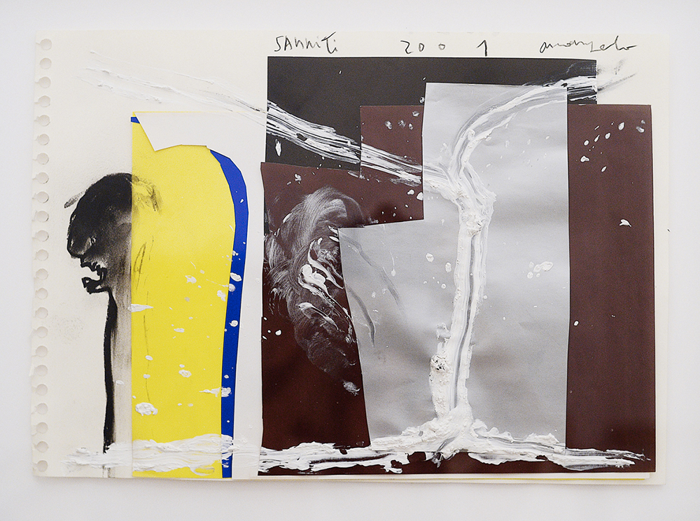 Sanniti, 2001, tecnica mista su carta, cm 28x41