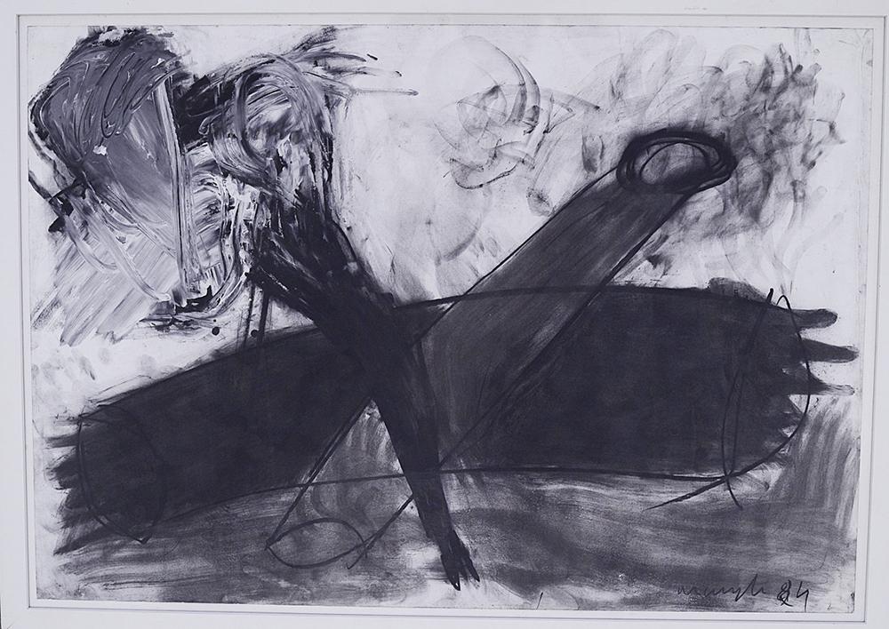 Senza titolo, 1984, tecnica mista su carta, cm 68x98