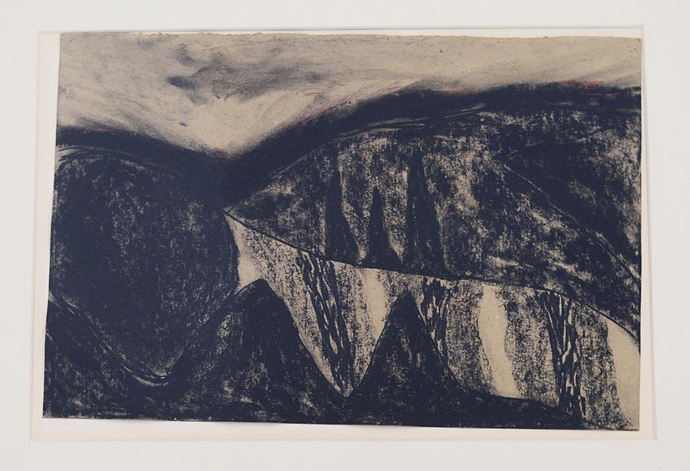 Senza titolo, 1986, tecnica mista su carta pesce, cm 28x42