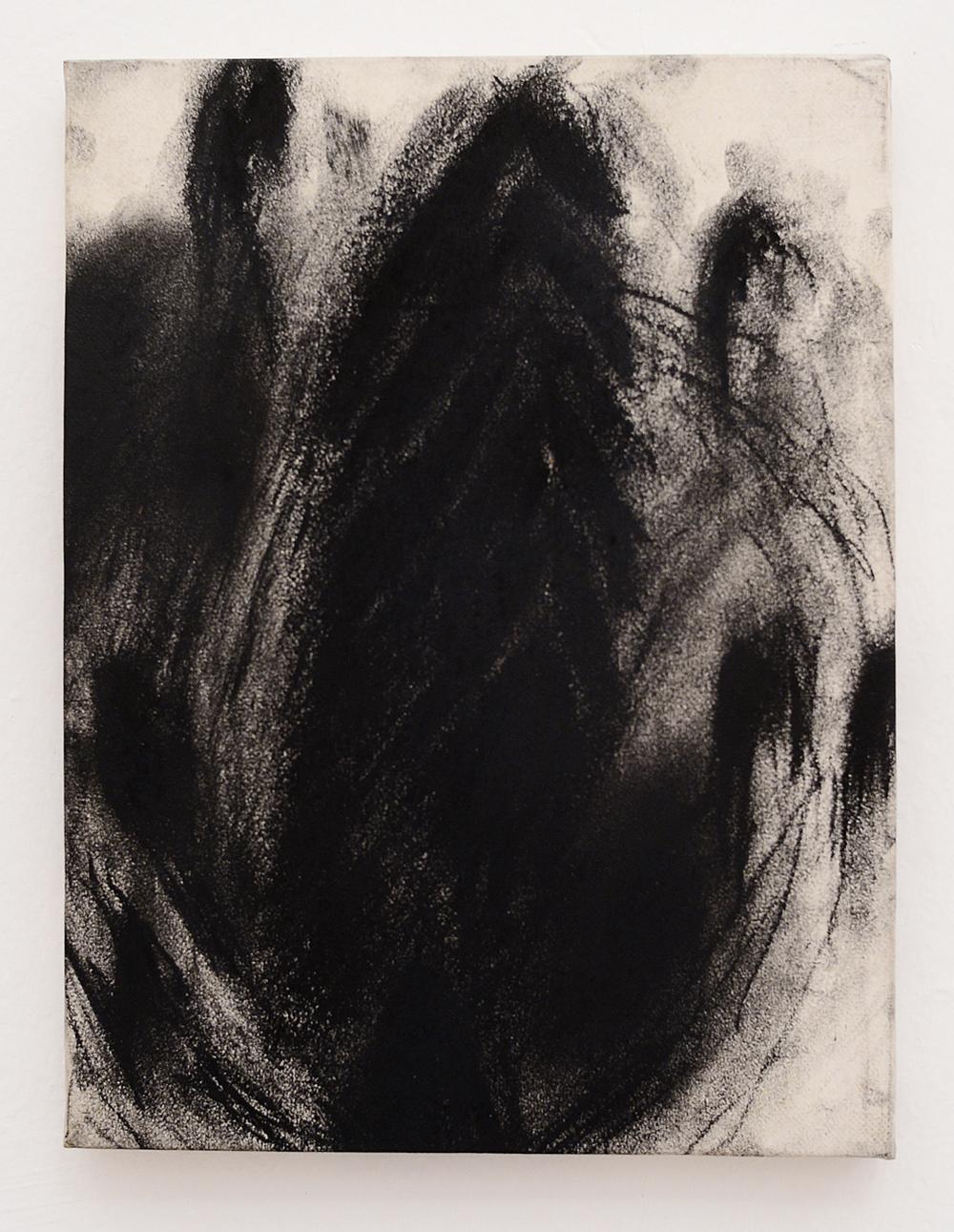 Senza titolo, 1988, tecnica mista su carta intelata, cm 24x18