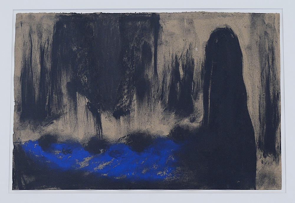 Senza titolo, 1991, tecnica mista su carta pesce, cm 27x41
