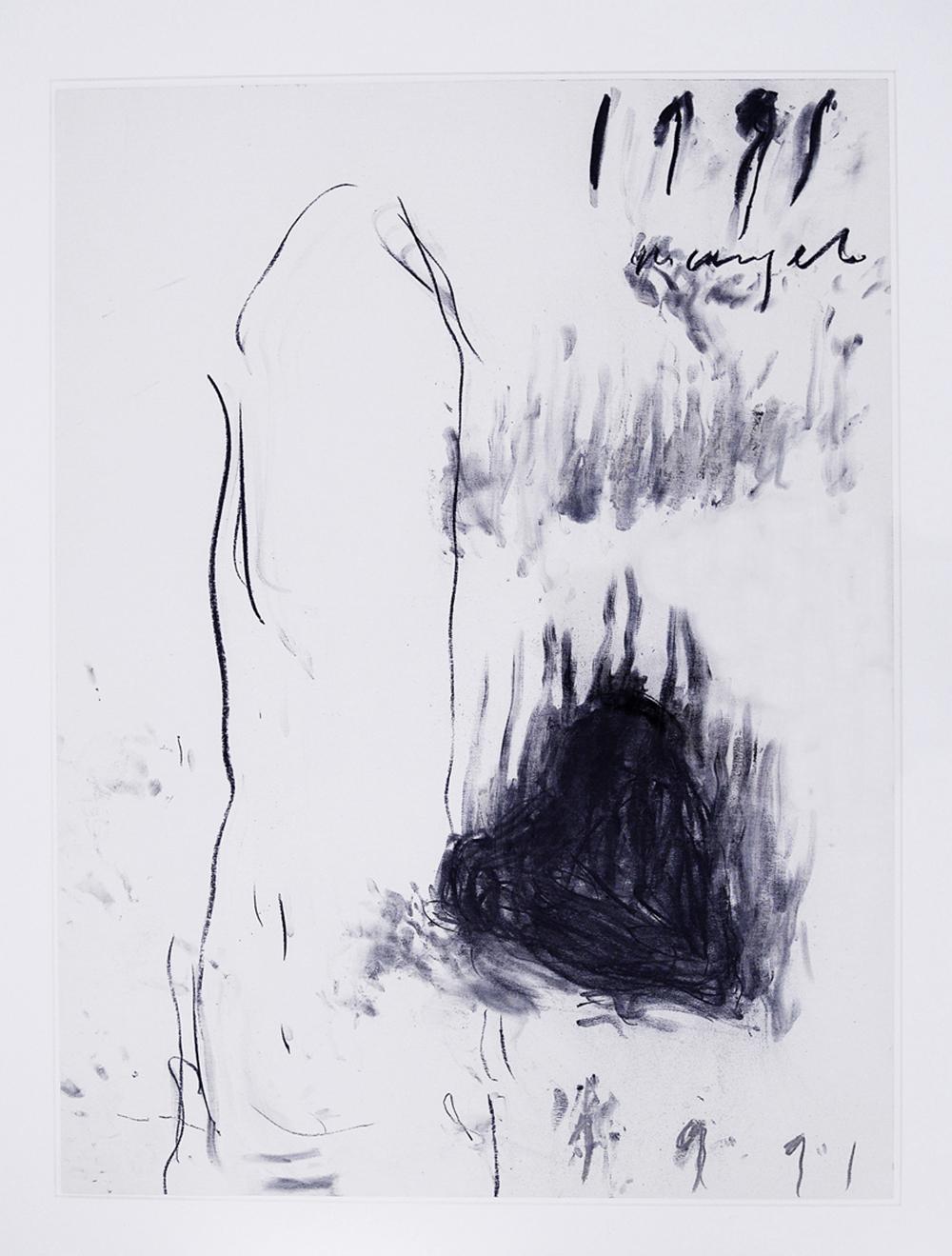 Senza titolo, 1991, tecnica mista su cartoncino, cm 75x58