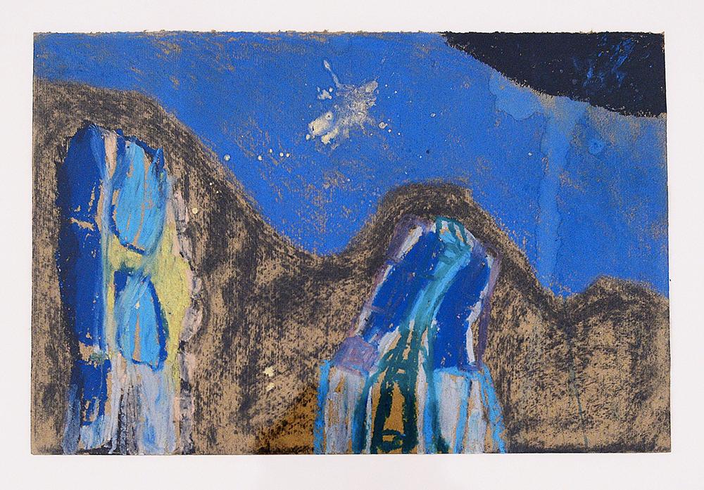 Senza titolo, Le mie case, 2005, tecnica mista su carta pesce, cm 27x41