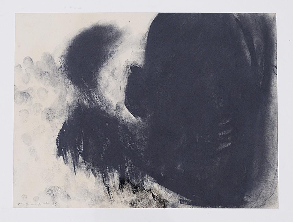 Terra mia, 1983, tecnica mista su carta, cm 29x39