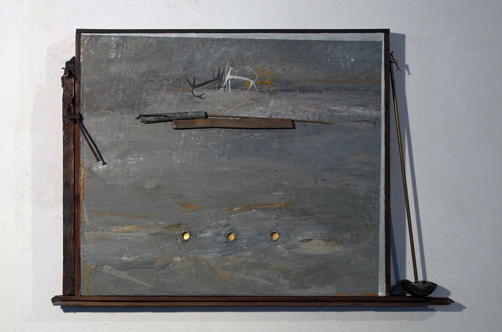 L'occhio di Narciso, 2009, tecnica mista, cm 92x64x11