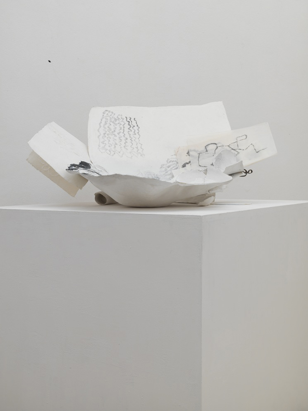 Grotta in casa, 2013, tecnica mista su carta, gessi, manufatti, misure variabili