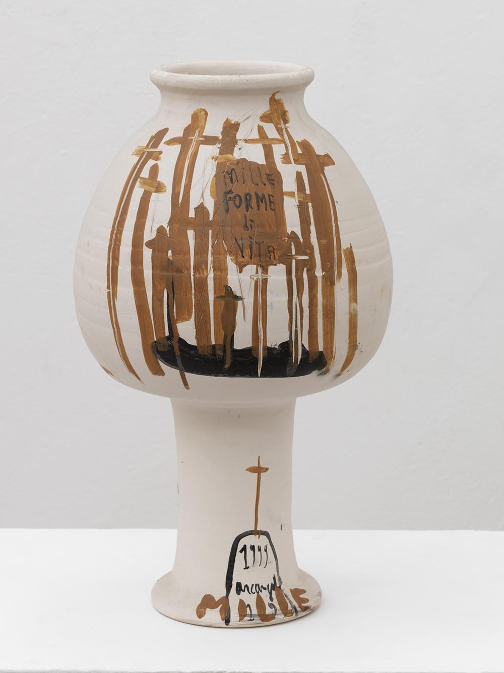 Arcangelo, Anfora, Misteri, 1999, ceramica, cm h60x18