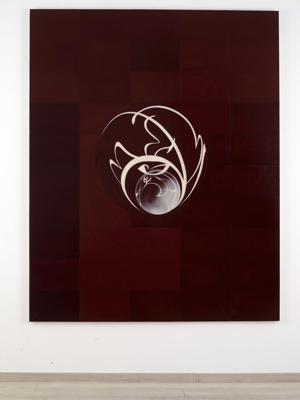 Domenico Bianchi, Senza titolo, 2007, cera su fiberglass, cm 250x200