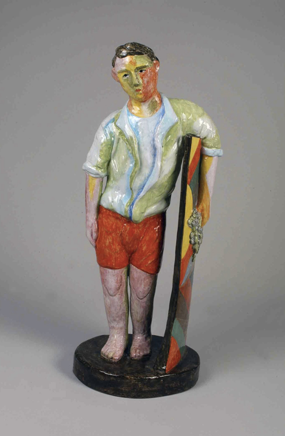Sandro Chia, Riposo, 2005, ceramica policroma, cm 26x22x66 h