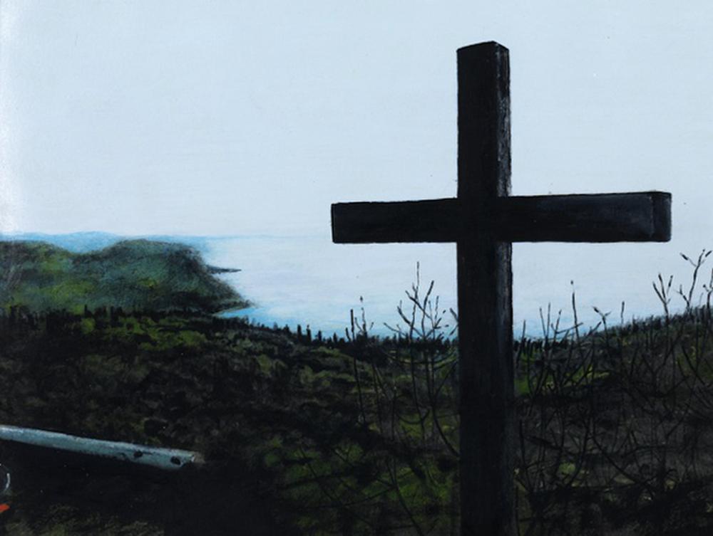 Croce, 2012, acrilico su carta, cm 20x27