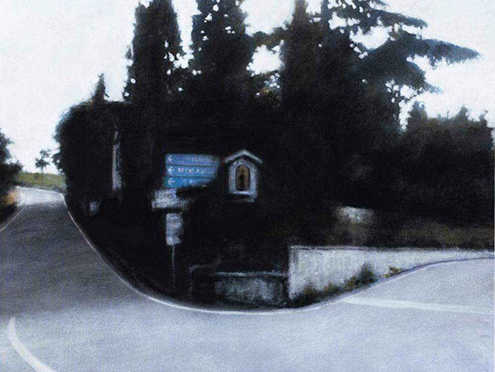 Edicola, 2012, acrilico su carta, cm 20x27