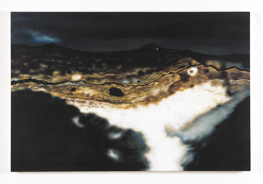Andrea Facco, D'APRÈS TIZIANO – Dal margine a destra in corrispondenza della testa del chierico, 2011, acrilico su tela, cm 20x30
