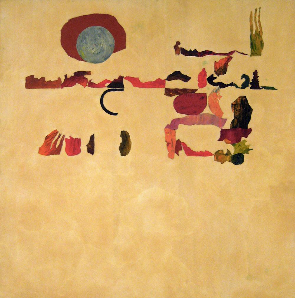 Giuseppe Gallo, Senza titolo, 2007, encausto e olio su tavola, cm 140x140