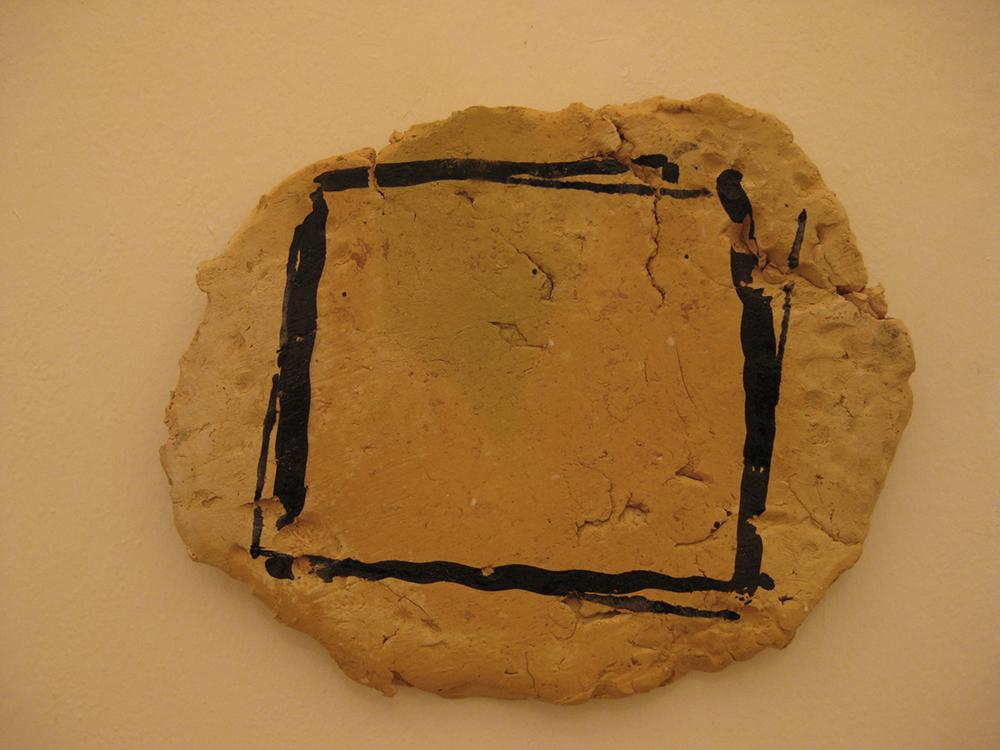 Marco Gastini, Ceramica, 2011, tecnica mista e terracotta, cm 34x43
