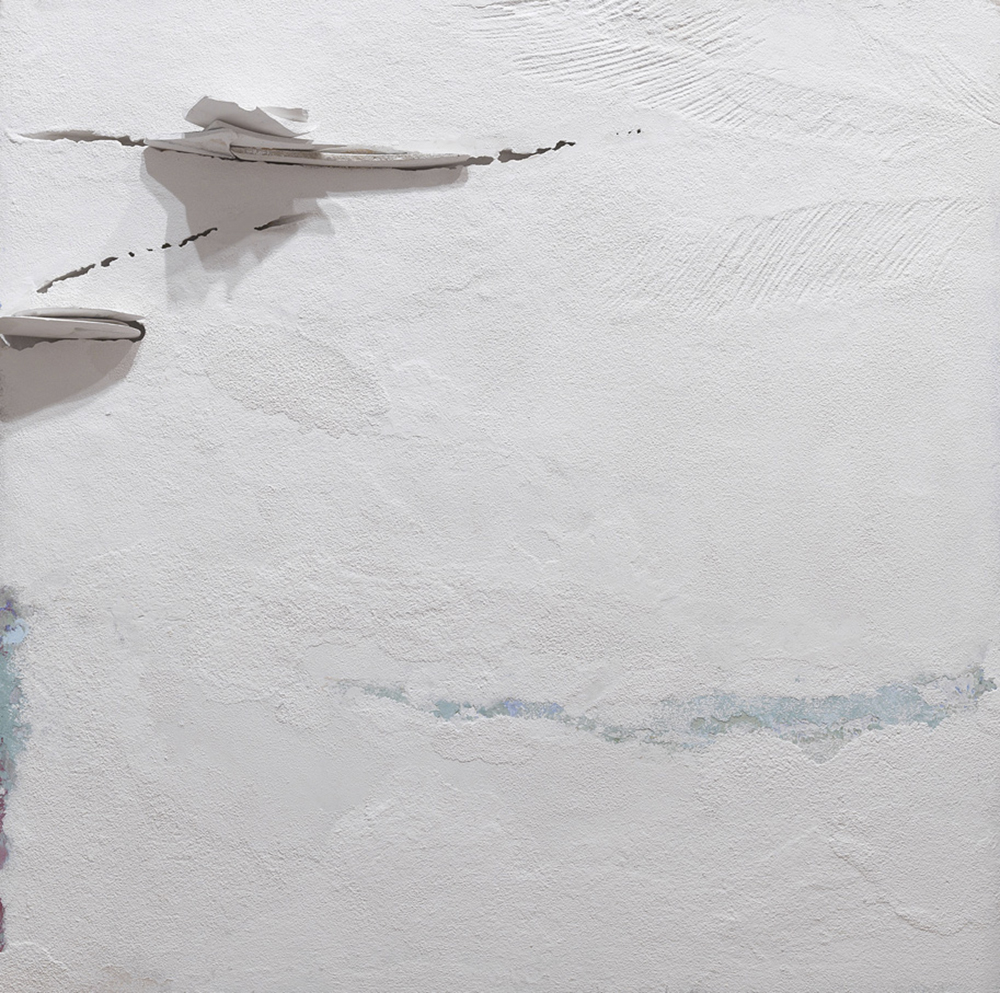 Impossibili restauri, 2012-13, tecnica mista su tavola, cm 100x100