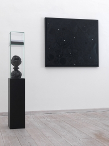 Nero ombrato, 2004-2005, olio su tela, cm 100x120