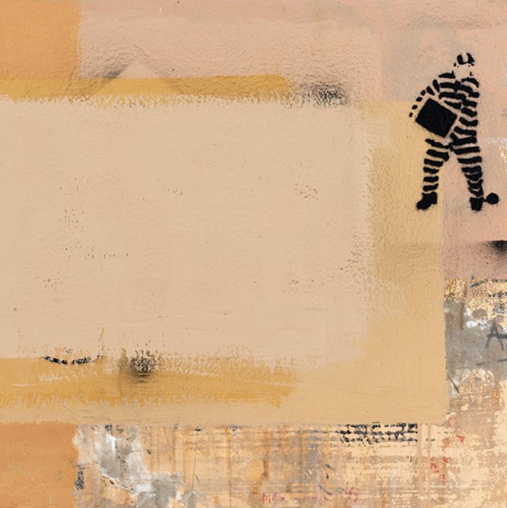 Muro 34, 2012, tecnica mista su tela, cm 74x74