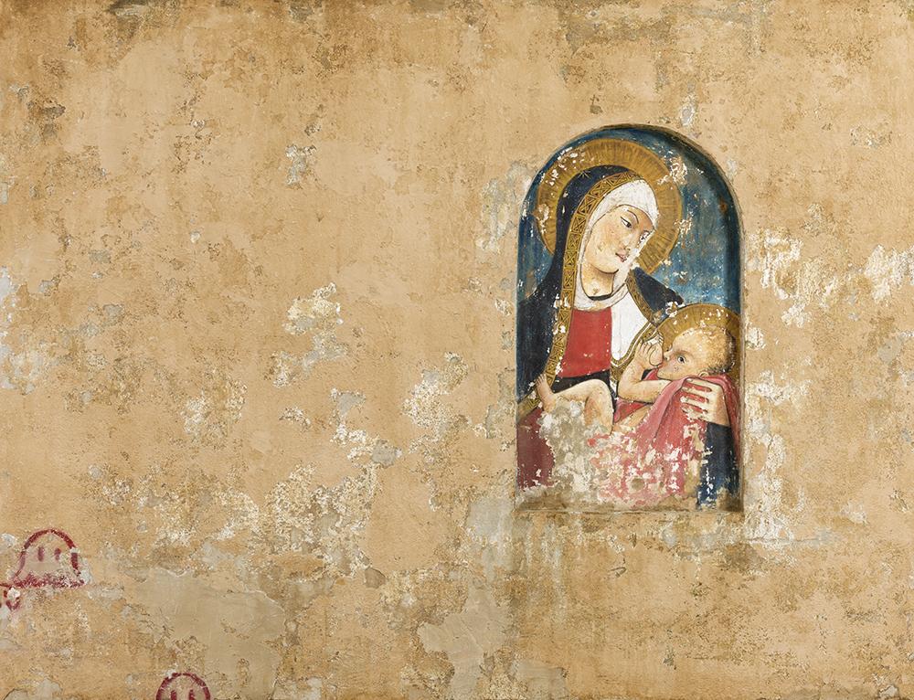 Muro 38, 2012, tecnica mista su tela, cm 170x170