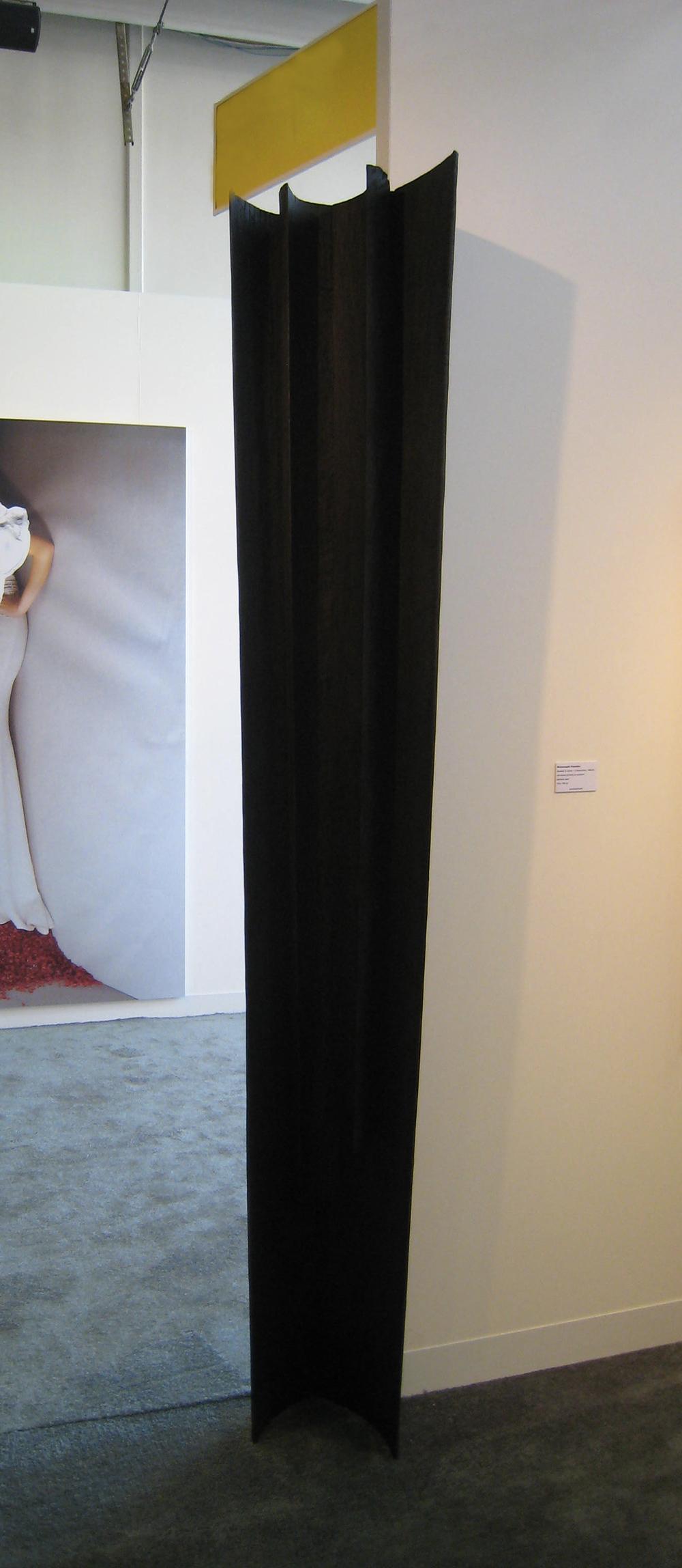 Nunzio, Senza titolo, 2008, legno combusto, cm 244x50x32