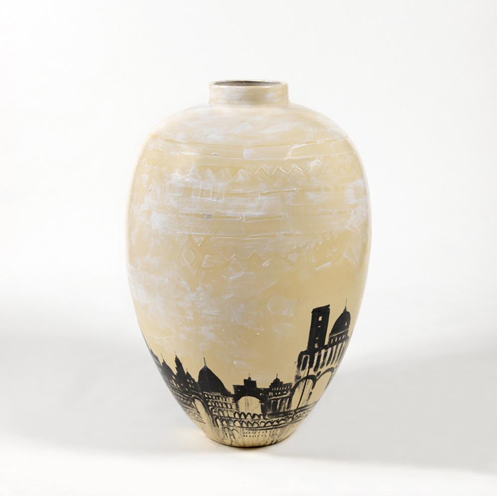 Pizzi Cannella, Cattedrale, 2010-11, ceramica, h cm 90