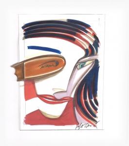 Illustrazioni per Silhuette International, 1991, tecnica mista su carta