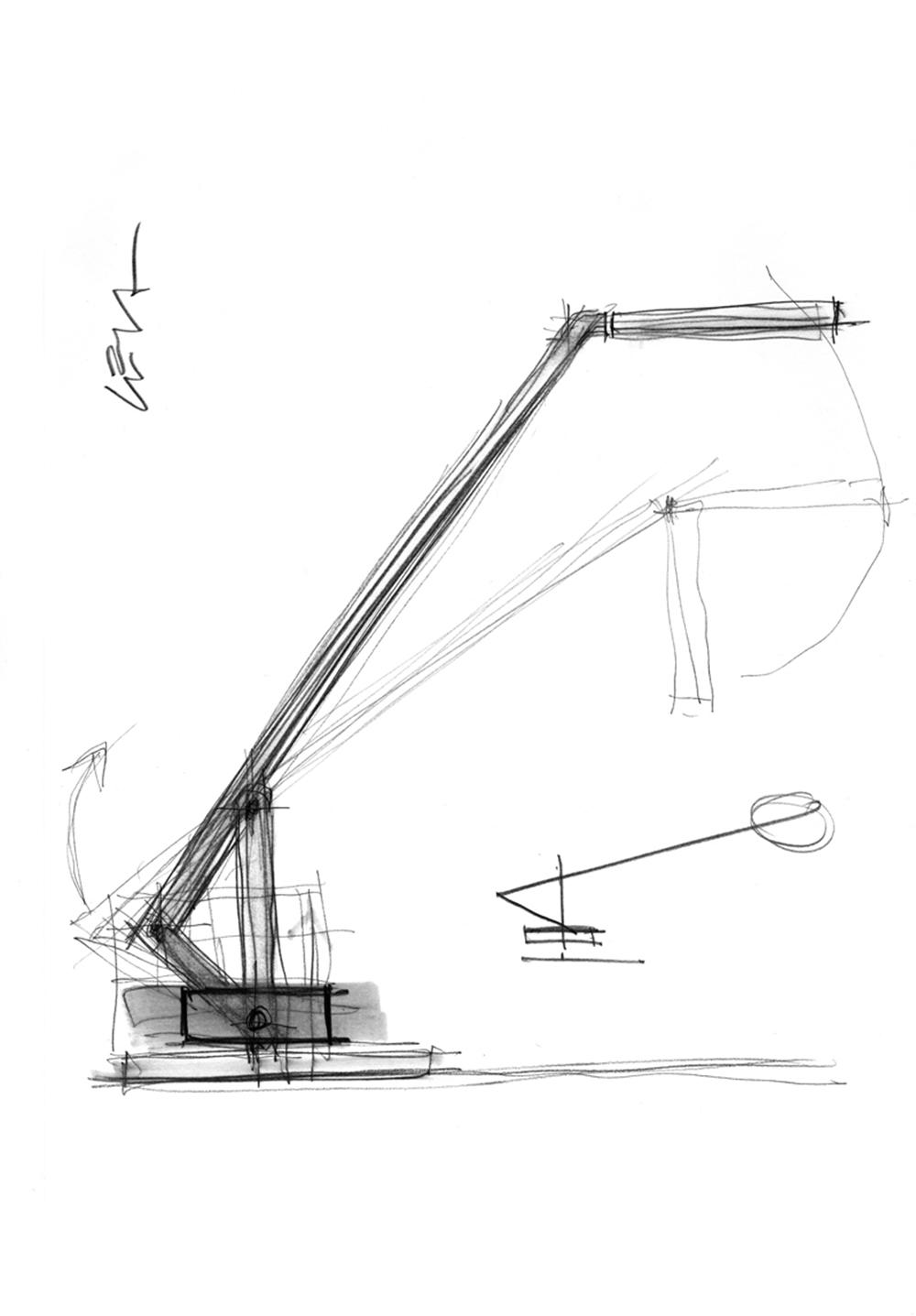 Studio per lampada Leva, 2012, tecnica mista su carta, cm 29.7x21