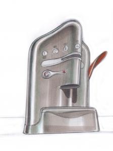 Studio per macchina da caffè T Tuttoespresso, 2000, matita su carta, cm 29.7x42