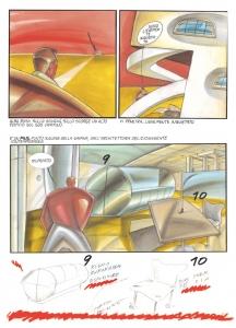 Tavola del fumetto Capitano Eduardo Alberto Sillavengo, 1983, tecnica mista su carta, cm 42x29.7