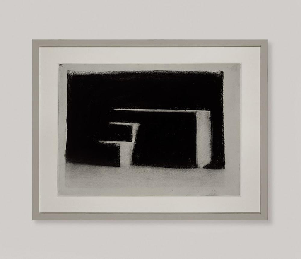 Senza titolo, 2008, tempera e carbone su carta, cm 33x43