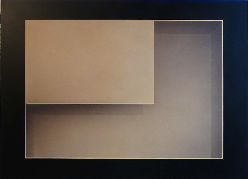 Marco Tirelli, Senza titolo, 2008, tecnica mista su tela, cm 180x250